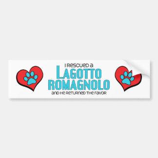 I Rescued a Lagotto Romagnolo Male Dog Bumper Stickers