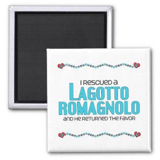 I Rescued a Lagotto Romagnolo (Male Dog) Fridge Magnet