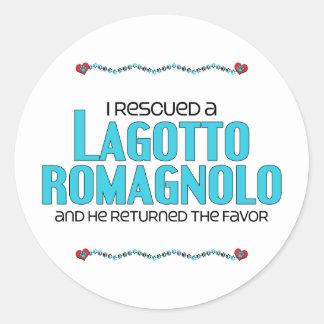 I Rescued a Lagotto Romagnolo (Male Dog) Stickers