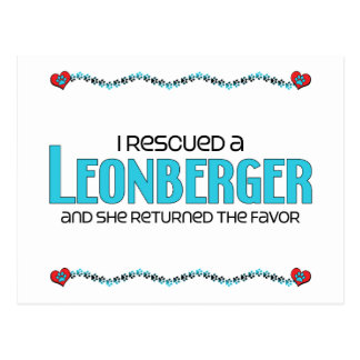 I Rescued a Leonberger (Female Dog) Postcard