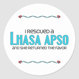 I Rescued a Lhasa Apso (Female Dog) Sticker