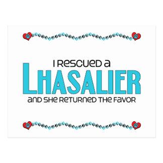 I Rescued a Lhasalier (Female) Dog Adoption Design Postcard