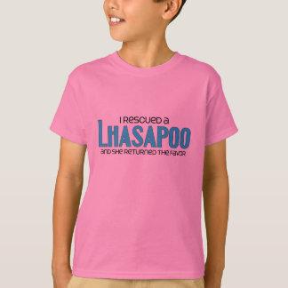 I Rescued a Lhasapoo (Female) Dog Adoption Design T-Shirt