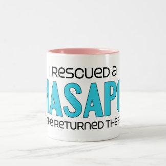 I Rescued a Lhasapoo (Female) Dog Adoption Design Two-Tone Coffee Mug