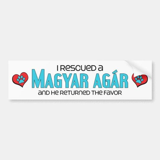 I Rescued a Magyar Agár (Male Dog) Bumper Sticker