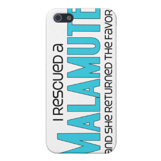 I Rescued a Malamute (Female Dog) Covers For iPhone 5