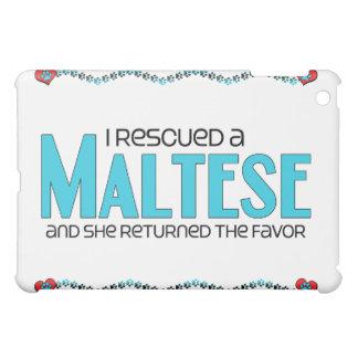 I Rescued a Maltese (Female Dog) iPad Mini Case