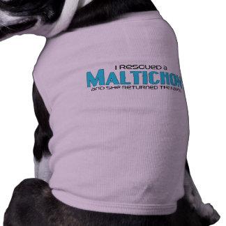 I Rescued a Maltichon (Female) Dog Adoption Design T-Shirt