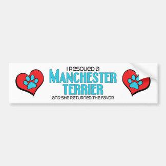 I Rescued a Manchester Terrier (Female Dog) Bumper Sticker