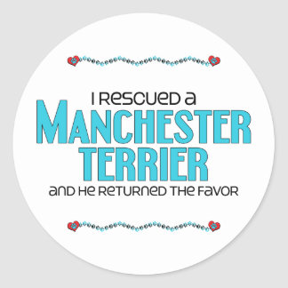 I Rescued a Manchester Terrier (Male Dog) Sticker