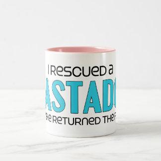 I Rescued a Mastador (Female) Dog Adoption Design Two-Tone Coffee Mug