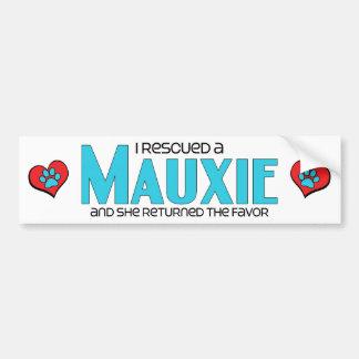 I Rescued a Mauxie (Female) Dog Adoption Design Bumper Sticker