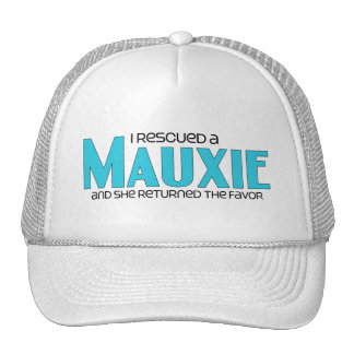 I Rescued a Mauxie (Female) Dog Adoption Design Trucker Hats