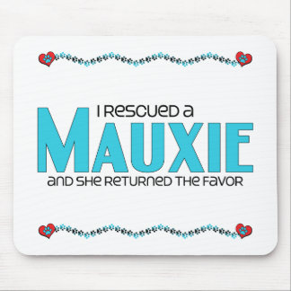 I Rescued a Mauxie (Female) Dog Adoption Design Mousepads