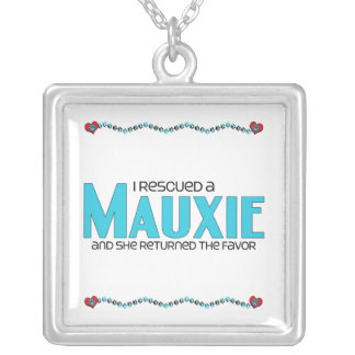 I Rescued a Mauxie (Female) Dog Adoption Design Personalized Necklace