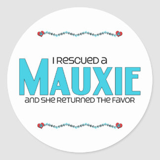 I Rescued a Mauxie (Female) Dog Adoption Design Sticker
