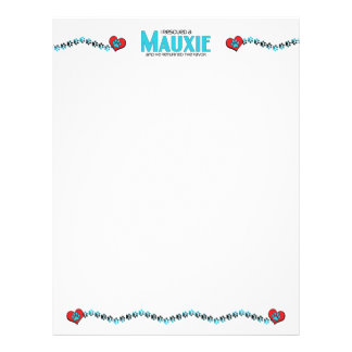 I Rescued a Mauxie (Male) Dog Adoption Design Personalized Letterhead