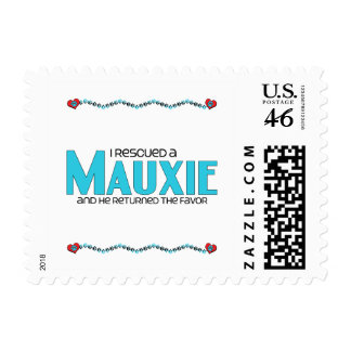 I Rescued a Mauxie (Male) Dog Adoption Design Postage Stamp