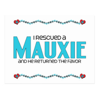I Rescued a Mauxie (Male) Dog Adoption Design Post Cards