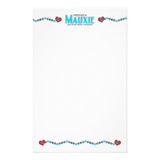 I Rescued a Mauxie (Male) Dog Adoption Design Stationery