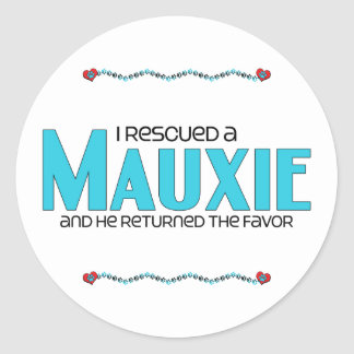 I Rescued a Mauxie (Male) Dog Adoption Design Round Stickers