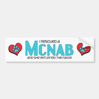 I Rescued a McNab (Female Dog) Car Bumper Sticker