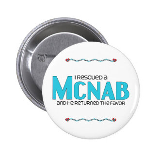 I Rescued a McNab (Male Dog) 2 Inch Round Button