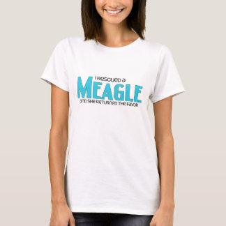 I Rescued a Meagle (Female) Dog Adoption Design T-Shirt