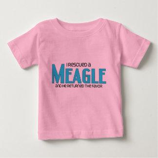 I Rescued a Meagle (Male) Dog Adoption Design Baby T-Shirt