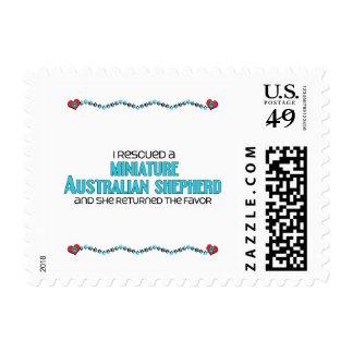 I Rescued a Miniature Australian Shepherd (Female) Postage Stamp