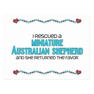 I Rescued a Miniature Australian Shepherd (Female) Postcard