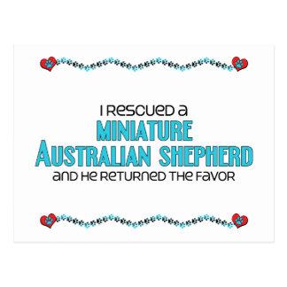 I Rescued a Miniature Australian Shepherd (Male) Postcard