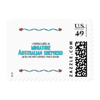 I Rescued a Miniature Australian Shepherd (Male) Stamp