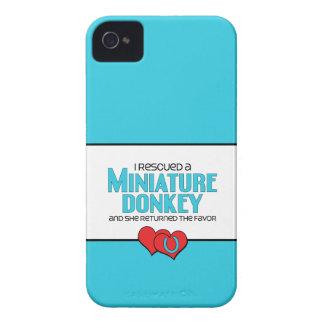 I Rescued a Miniature Donkey (Female Donkey) iPhone 4 Cases