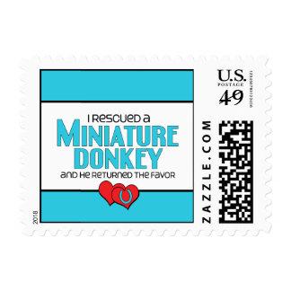 I Rescued a Miniature Donkey (Male Donkey) Postage Stamp