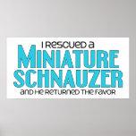 I Rescued a Miniature Schnauzer (Male Dog) Posters
