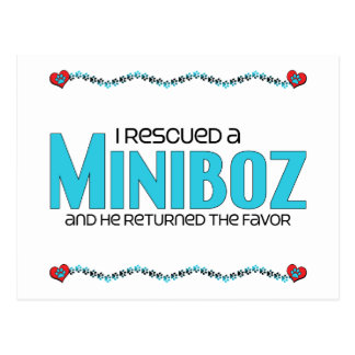 I Rescued a Miniboz (Male) Dog Adoption Design Postcard