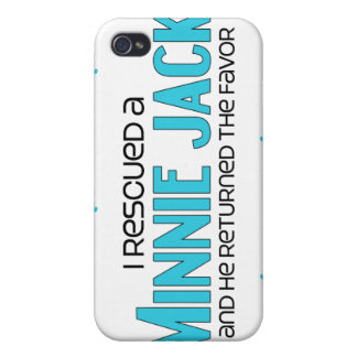 I Rescued a Minnie Jack Male Dog Adoption Design Case For iPhone 4