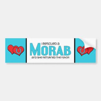I Rescued a Morab (Female Horse) Car Bumper Sticker