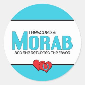 I Rescued a Morab (Female Horse) Classic Round Sticker