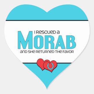 I Rescued a Morab (Female Horse) Heart Sticker