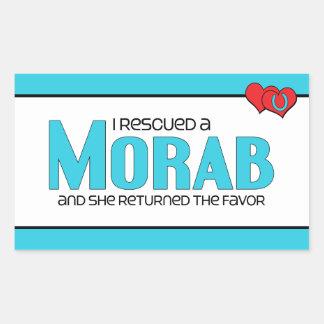 I Rescued a Morab (Female Horse) Rectangular Sticker