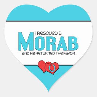 I Rescued a Morab (Male Horse) Heart Sticker