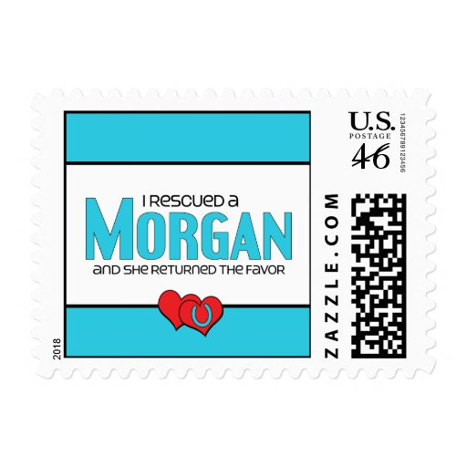 I Rescued a Morgan (Female Horse) Postage