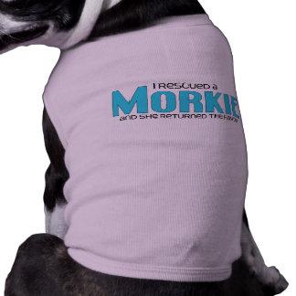 I Rescued a Morkie (Female) Dog Adoption Design Tee