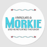 I Rescued a Morkie (Male) Dog Adoption Design Stickers