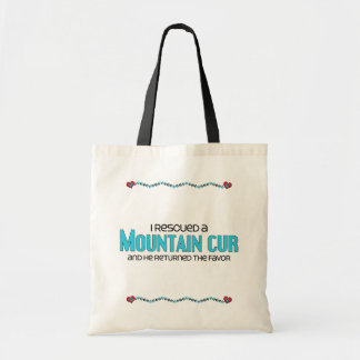 I Rescued a Mountain Cur (Male Dog) Tote Bag