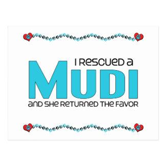I Rescued a Mudi (Female Dog) Postcard