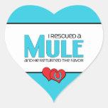 I Rescued a Mule (Male Mule) Heart Sticker