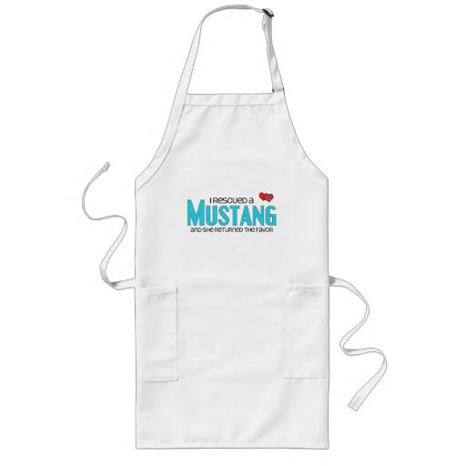 I Rescued a Mustang (Female Horse) Aprons